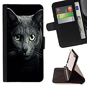 Pattern Queen - Black Cat Kitty - FOR Samsung Galaxy S4 IV I9500 - Hard Case Cover Shell