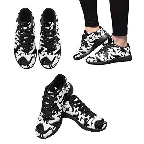 Design Shoes InterestPrint Sports Cute Walking Dinosaurs Running Women's 3 nww1qOI40