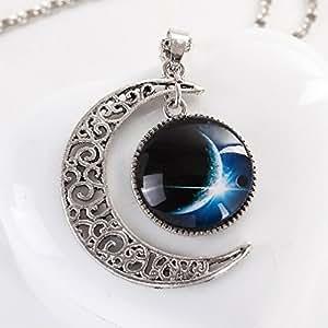 Amazon.com: Collares 2016 Galaxy Choker Necklace & Pendants Silver