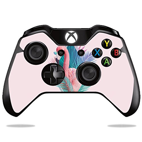 MightySkins Skin Compatible with Microsoft Xbox One or One S Controller - Flamingo Vice | Protective, Durable, and Unique Vinyl wrap Cover | Easy to Apply, Remove, and Change Styles ()