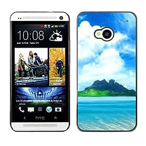 - Sex on the sunshine beach island - - Monedero pared Design Premium cuero del tir¨®n magn¨¦tico delgado del caso de la cubierta pata de ca FOR HTC 801e HTC One M7 Funny House
