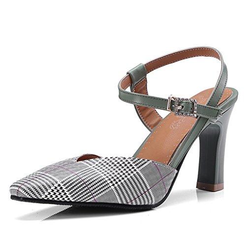OALEEN Soirée Escarpins Gird 46 Swallow Chaussures Femme Haut Sandales Arrière Vert Talon Bride Olive 32 TTrHWq