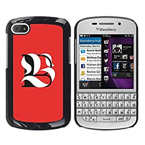 Paccase / SLIM PC / Aliminium Casa Carcasa Funda Case Cover - B L Be Meaning Calligraphy Initial - BlackBerry Q10