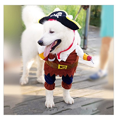 Always Pretty Pet Dog/Cat Halloween Cool Funny Costume Dogs Cosplay Coat pirate - Costume Pirate Pet Halloween