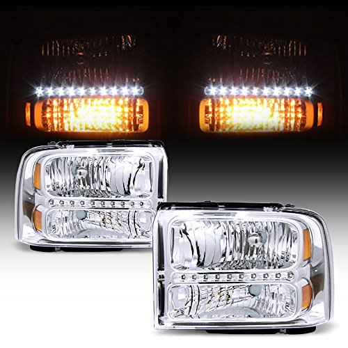 ACANII - For 2005-2007 Ford F250 F350 F450 F550 Superduty Led Headlights Headlamps Pair 2006 Driver + Passenger Side