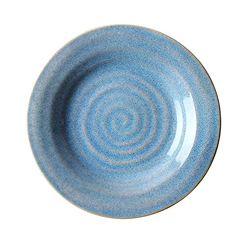 FGSLW Salad Plate, Nordic Round 10 Inch Ceramic Tableware, Western Restaurant Steak Plate, Hotel Dessert Plate, Fruit Plate, Home Breakfast Plate (Size : Set of (Fruit Design Table Lamp)