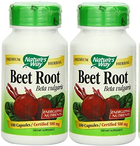 Natures Beet Powder Capsules 100 count product image