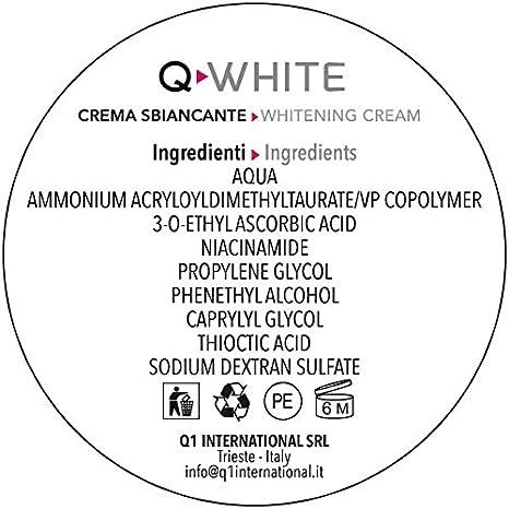 Q-WHITE crema gel blanqueadora decolorante para las manchas de la piel de distinto origen (hipercromía, melasma, manchas solares, seniles, hormonales por ...