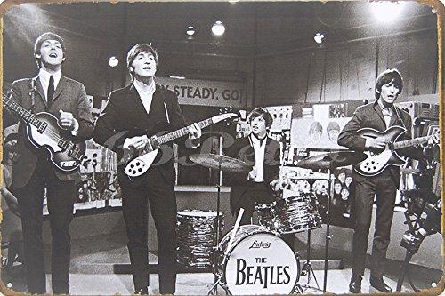 The Beatles (1964), Metal Tin Sign, Wall Decorative Sign, Size 8