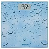 Taylor Precision Products Glass Digital Bath Scale (Water Drop)