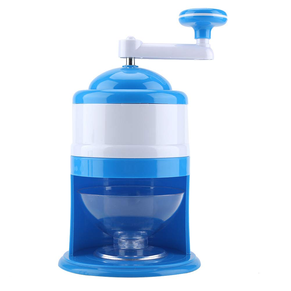 Ice Crusher Grinder Shaver Manual Household Ice Chipper Snow Cone Maker Machine with Hand Crank for Fine Or Coarse Pieces