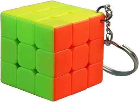 MZStech Mini Cubo Mágico 3x3x3 Colgante Decoración
