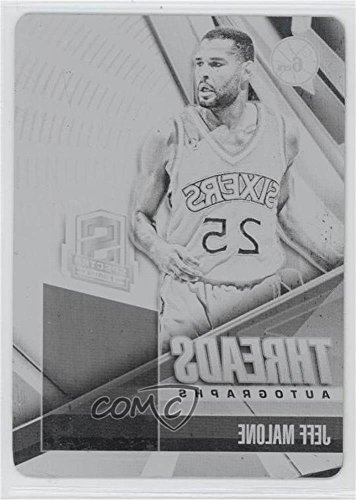 Jeff Malone #1/1 (Basketball Card) 2013-14 Panini Spectra - Threads Autographs - 2013-14 National Treasures Printing Plate Black #11 -