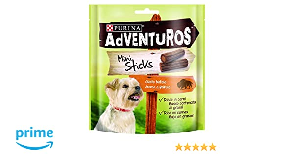 Purina Adventuros Mini Sticks golosinas y chuches natural para perros 6 x 90 g: Amazon.es: Productos para mascotas