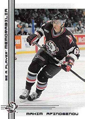 2000-01 Be A Player Memorablia Hockey #64 Maxim Afinogenov Buffalo Sabres Official Trading Card From ITG In The Game