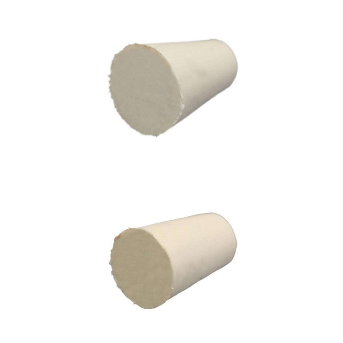 FLAMEER 2 Tailles, Bouchon en Caoutchouc Conique Blanc, Bouchon - Bouchon - 10PCS - Fournitures De Laboratoire