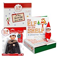Elf on the Shelf Blue Eyed Girl with Winter Poofy Parka Jacket - Direct From North Pole in Limited Edition Santa Gift Box