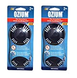 Kraco 804278-2PK Pack of 2 (4 Disks) Ozium Smoke & Odors Eliminator Home, Office and Car Air Freshener, Original Scent Pack