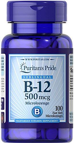 Puritan's Pride Vitamin B-12 500 mcg Sublingual-100 Microlozenges - B-12 Dots Sublingual