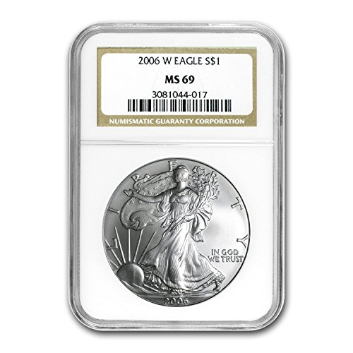 (2006 W Burnished Silver American Eagle MS-69 NGC Silver MS-69 NGC)