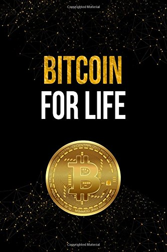 Bitcoin For Life: Black and Gold Bitcoin Cryptocurrency Designer Notebook