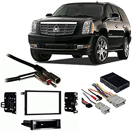 Fits Cadillac Escalade 2007-2011 Aftermarket Harness Radio Install Dash Kit
