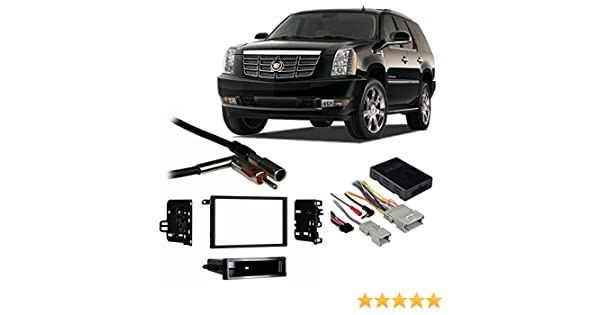 Amazon.com: Fits Cadillac Escalade 03-06 Double DIN Stereo Harness Radio Install Dash Kit: Car Electronics