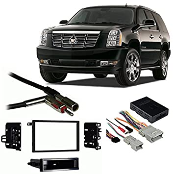 51bAu7XifhL._SY355_ amazon com fits cadillac escalade 03 06 double din stereo harness 2002 cadillac escalade stereo wiring harness at eliteediting.co