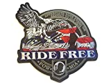 Rare!! Punk Fashion Military Army Patches Appliques Badge Cloth Attached Adhesive Motorhead Iron On/sew on Large Round Size Patch Eagle w/ Motorcycle Rider Free Embroidered Biker Trucker Jacket