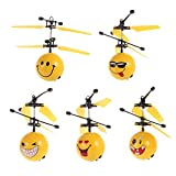 Goolsky Creative Emoji Levitating Sphere Smiley Face Helicopter Flying Ball Emoticon Drone Hand Control Aircraft RC Toy Children Gift