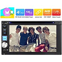 Eincar HD 6.2 Inch Android 6.0 Marshmallow Car Radio DVD Player Double Din Stereo in Dash Touchscreen Quad-Core GPS Sat Nav Support Wifi Bluetooth/RDS/SD/USB/OBD2/Apple Play Mirrorlink/3G/4G