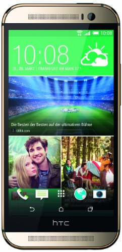 HTC One M8 Smartphone (5 Zoll (12,7 cm) Touch-Display, 16 GB Speicher, Android 4.4.2) gold