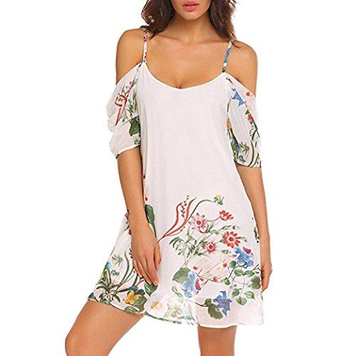 Plage Cocktai Chic Floral Mariage Pas Courte Aimee7 Automne Jupe Femme Robe Bustier De Pour Vetements Cher Boheme Mousseline Mini Lâche Blanc Soiree Mode Soie Eq1Op
