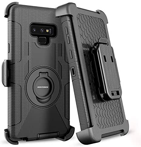 BENTOBEN Galaxy Note 9 Case, Shockproof Heavy Duty Rugged Hybrid Hard PC Cover Soft Silicone Bumper Full Body Protective Phone Case with Kickstand ...