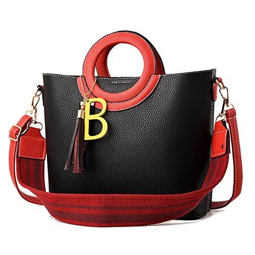 Meaeo New Bag Woman Casual Handbag Single Ladies Wild Purple Black