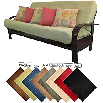Amazoncom Lifestyle Covers Black Full Size Futon Cover Home