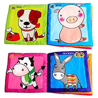 Sturrly Baby Bath Books,Nontoxic Fabric Soft Baby Cloth Books,Early Education Toys,Waterproof Baby Books for Toddler, Infants Perfect Shower Toys,Kids Bath Toys Best Gift (F): Toys & Games
