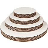 #7: Round Cake Boards By Pro Dispose – Set Of 24 White Cake Circles – 6 Of Each Size Cake Rounds (6, 8, 10 & 12 Inches) – Ideal For Cake Decorating & Multi-Tier Stacked Cakes – Slip Resistant & Food Safe