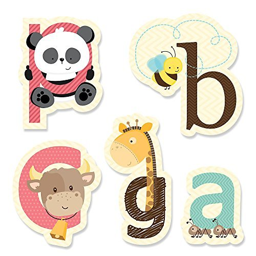 A is for Alphabet - DIY Shaped Baby Shower or Birthday Party Cut-Outs - 24 (Alphabet Cut Outs)
