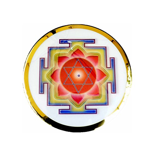 - Love Hearts Framed Lakshmi Yantra Lenticular Button