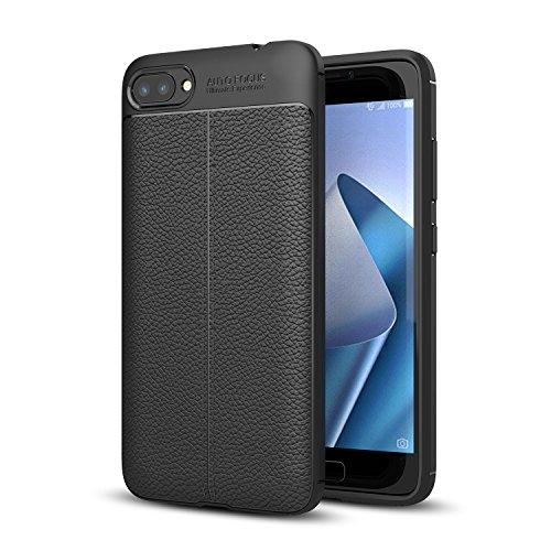 Funda ZenFone 4 MAX ZC554KL, bdeals Suave Silicona Textura Patrón de Lichia Slim Fit Cáscara No Slip A Prueba de Golpes Caja Full Protective Cubrir para ZenFone 4 MAX ZC554KL(5.5),Negro