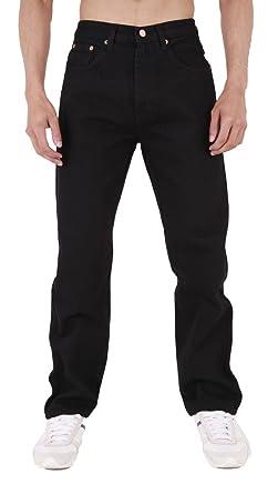AztecHerren Straight legJeanshose Schwarz Schwarz