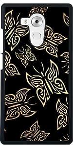 Funda para Huawei Mate 8 - Mariposas Patrón Oro Negro by Nina Baydur