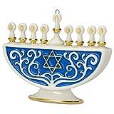 Hallmark The Festival of Lights Menorah Porcelain Ornament