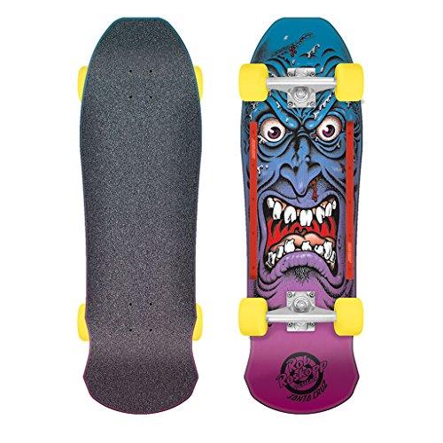Santa Cruz Skate Roskopp Face 9.5in x 31in 80s Cruzer - Complete Skateboards Rob
