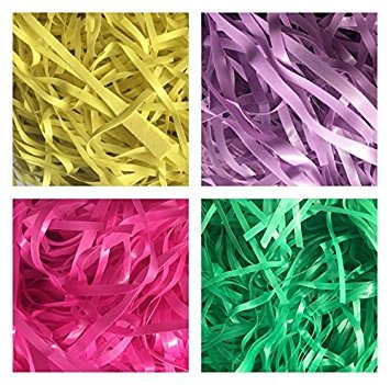 Easter Basket Grass 3.25 oz Pink, Green, Purple or Yellow (PURPLE)