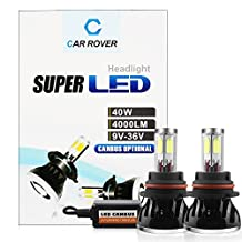 CAR ROVER 9004 HB1 40W 8,000LM(4000LM Each Bulb) 6,000K CREE LED Headlight Conversion Kit Super Bright Cool white Lamp Light Bulbs with No Error CanBus Technology