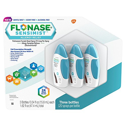 Flonase Sensimist Allergy Relief Nasal Spray, Great Size 2 Pack ( 6 Bottles, 120 Count Each ) by Flonase