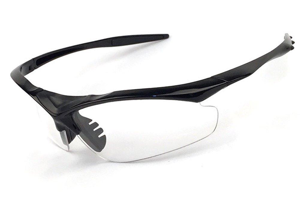 wonzoneアウトドアスポーツアスリートの眼鏡UV保護ナイトビジョンサングラス乗馬メガネEye Gear Protecor forサイクリング釣りゴルフ B01M3UZXMW Black Frame Transparent091  Black Frame Trans091, リココチ アンド マーケット ac0eb1dd