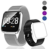 PUBU Fitness Tracker HR, Color Screen Activity Tracker Watch with Replacement Band, Waterproof Smart Watch with Heart Rate Monitor, Step Counter, Measuring Calories, Sleep Monitor